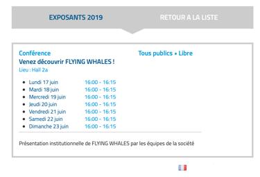 Flying Whales - Rencontres sur Salon du Bourget 2019