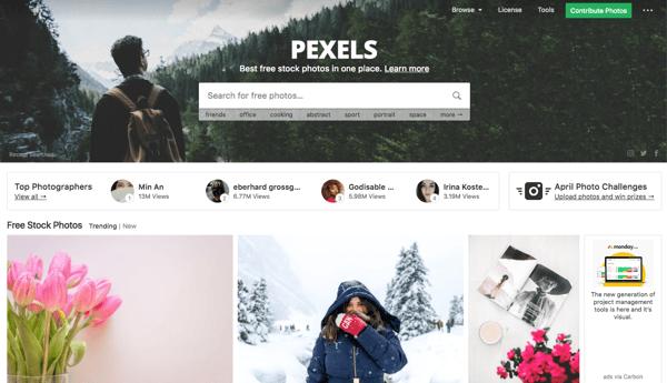 Site Pexels