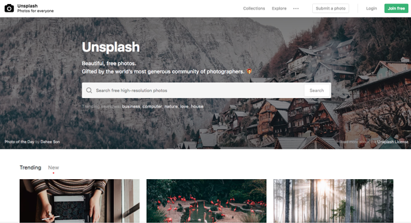 Site Unsplash