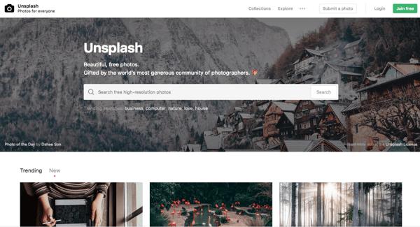 Site Unsplash